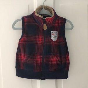Carter's plaid fleece vest
